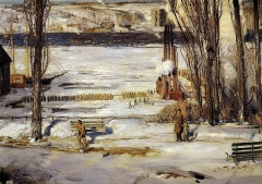 A Morning Snow Hudson River (1910)