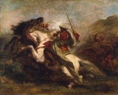 Collision of Moorish Horsemen, 1844