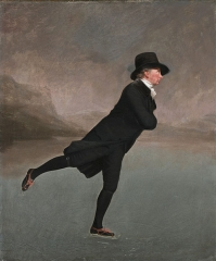The Reverend Robert Walker Skating on Duddingston Loch, better known as The Skating Minister (1790s)