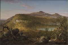 A View of the Two Lakes and Mountain House, Catskill Mountains, Morning (c. 1844)