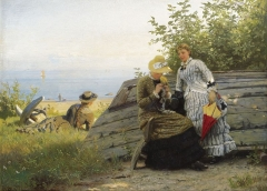 Damer i solskinnet or Ladies in the sunshine (1883)