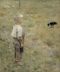 Boy and Crow, 1884,