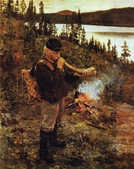 Shepherd Boy from Paanajärvi, 1892