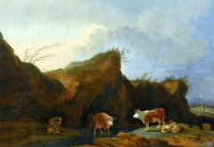 Landscape with cows, Wilanów Palace, Warsaw