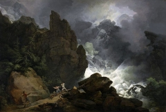 An avalanche, painted 1803