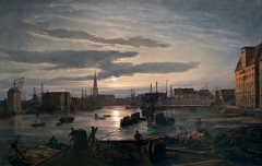 Copenhagen Harbour by Moonlight, 1846