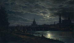View of Dresden by Moonlight