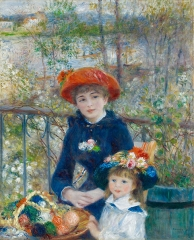 Two Sisters  ( 1881 ) -Painter: Pierre-Auguste Renoir