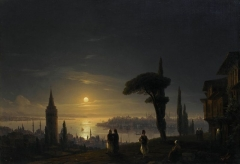 The Galata Tower by Moonlight (1845)
