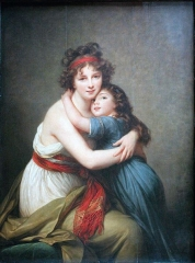Self portrait with Her Daughter, 1789