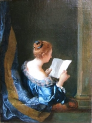 A woman reading