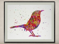 Watercolor Painting-Original Fine Art-Unique Art print Gift-Home Wall Decor Artwork-Bird-A04