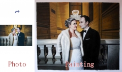 Wedding Portrait, Custom oil Portrait, Original Hand Painted Oil Painting on Canvas From Photos