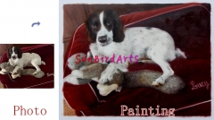 Custom pet portrait, Oil painting portrait, Hand painted oil portrait, Portrait painting from photo, Portrait on canvas, Family portrait etc