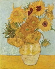 Vase with Twelve Sunflowers-Painter: Vincent van Gogh