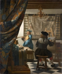 Vermeer's Art of Painting or The Allegory of Painting (c. 1666–68)