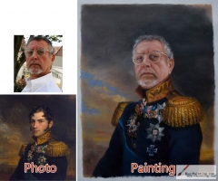 Custom oil portrait, Paint your face on famous painting, Family portrait, Pet Portrait and etc